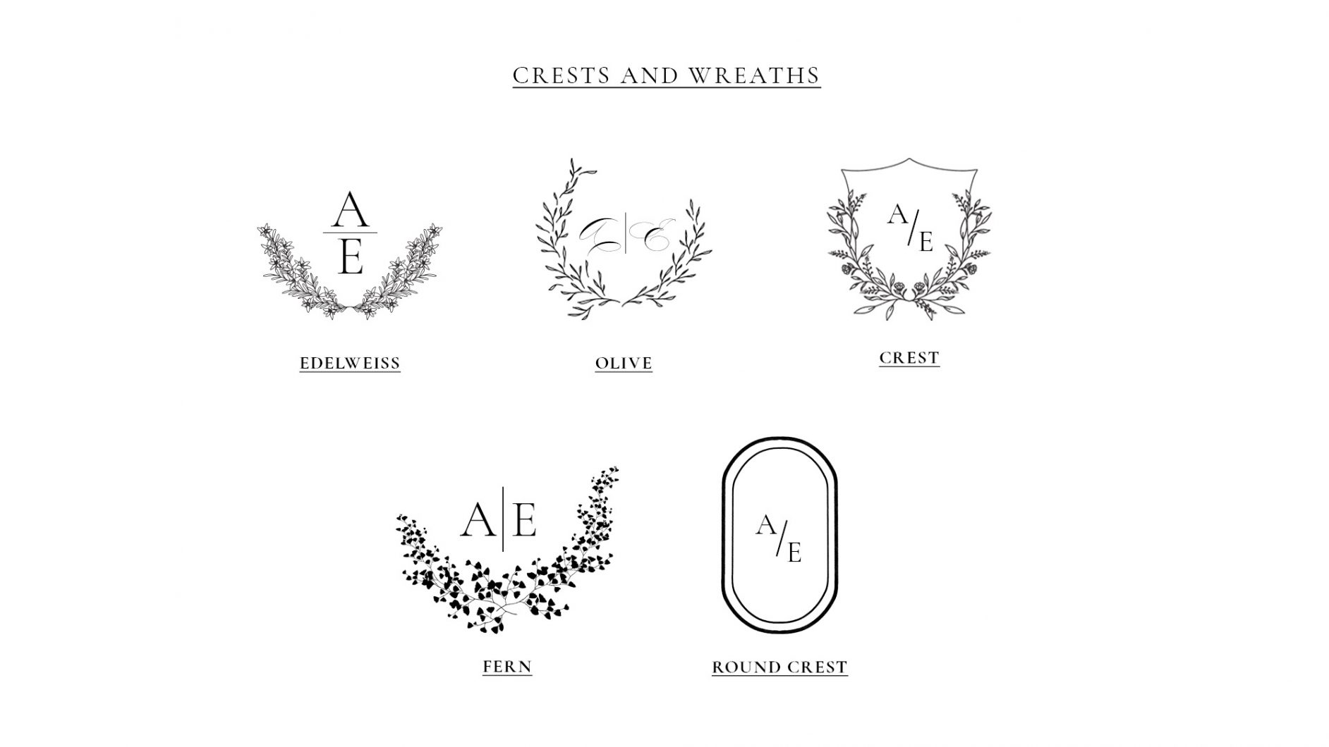 Wreath And Crests